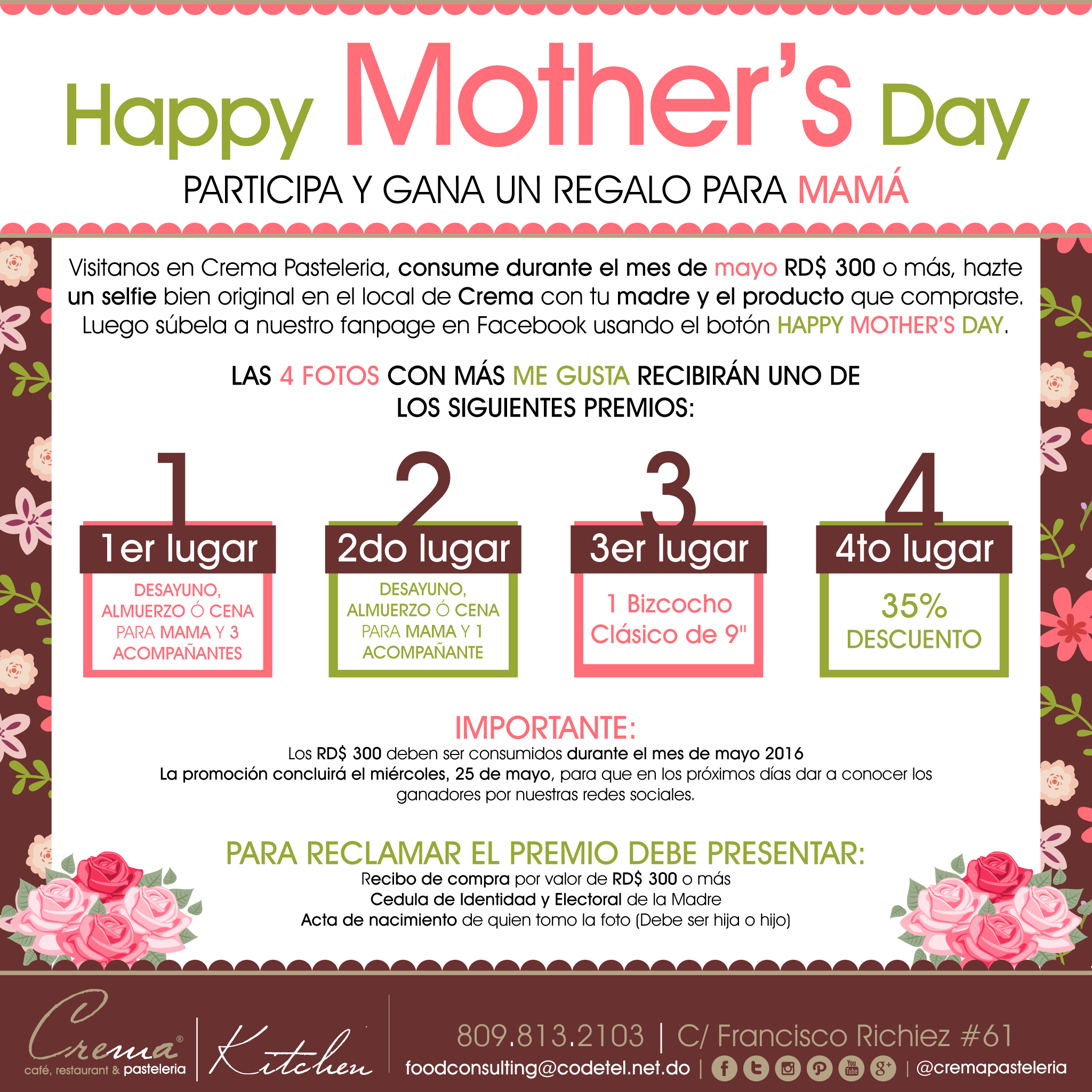 Mothers Day Contest Flyer