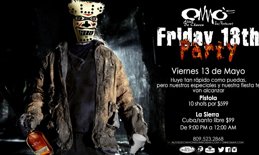 Friday 13th Party at Onno's Bar
