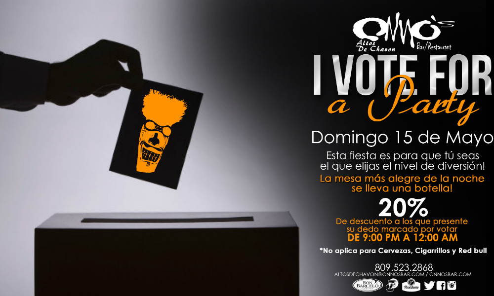 I Vote for a Party at Onno's Bar