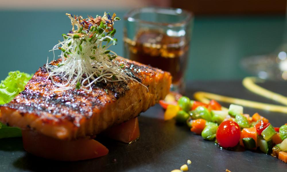 Blackened Salmon Simon Mansion Food Review