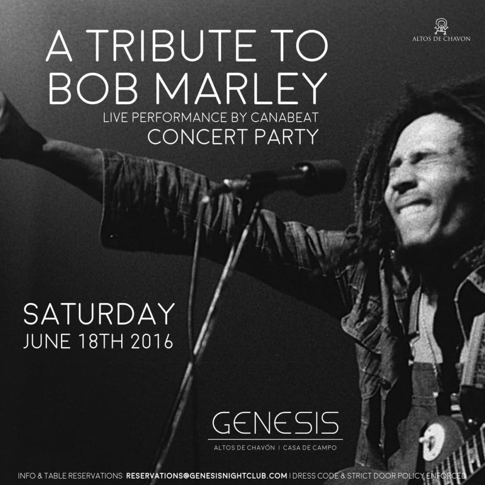 Bob Marley Tribute at Genesis Nightclub