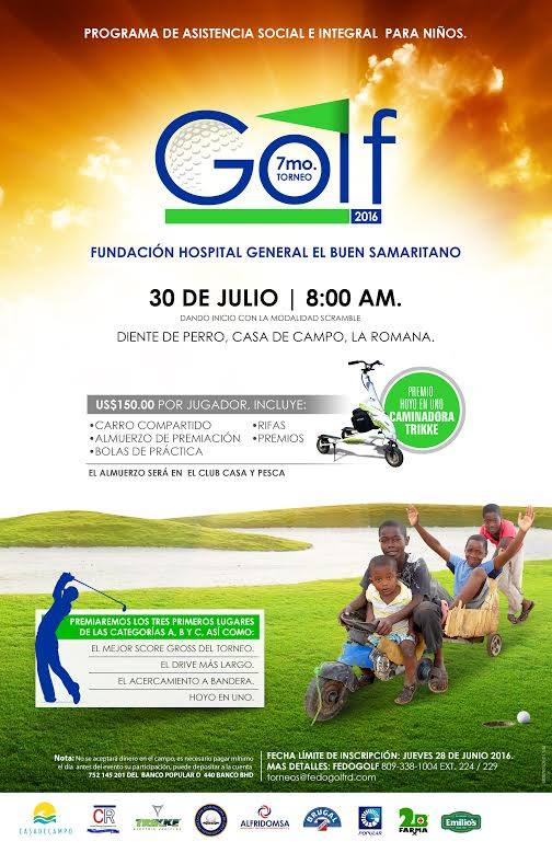 Buen Samaritano Golf Tournament 2016 Flyer