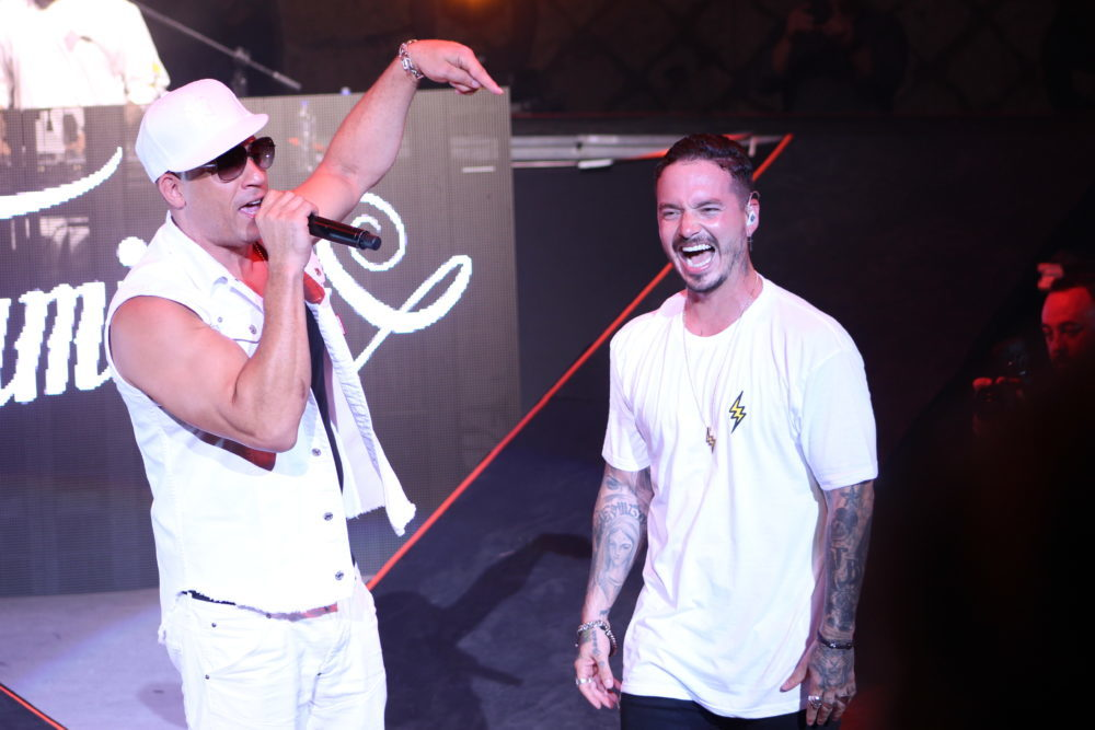 J. Balvin and Vin Diesel
