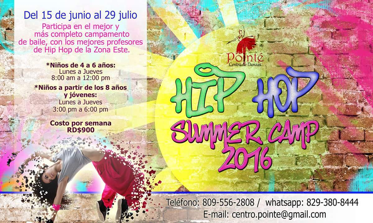 Pointe Hip Hop Summer Camp Flyer