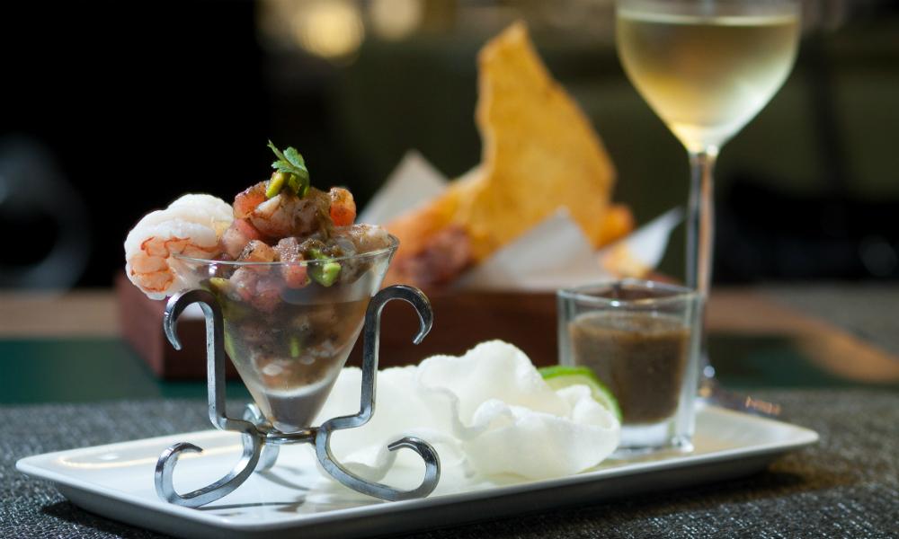 Shrimp Ceviche Simon Mansion Food Review