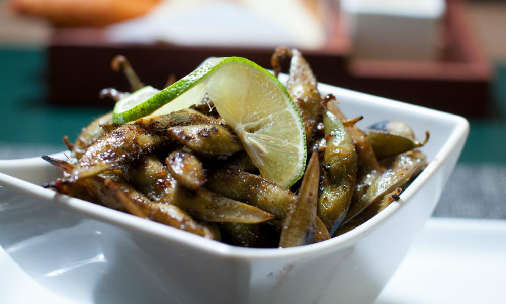 Wok Charred Edamame Simon Mansion Food Review