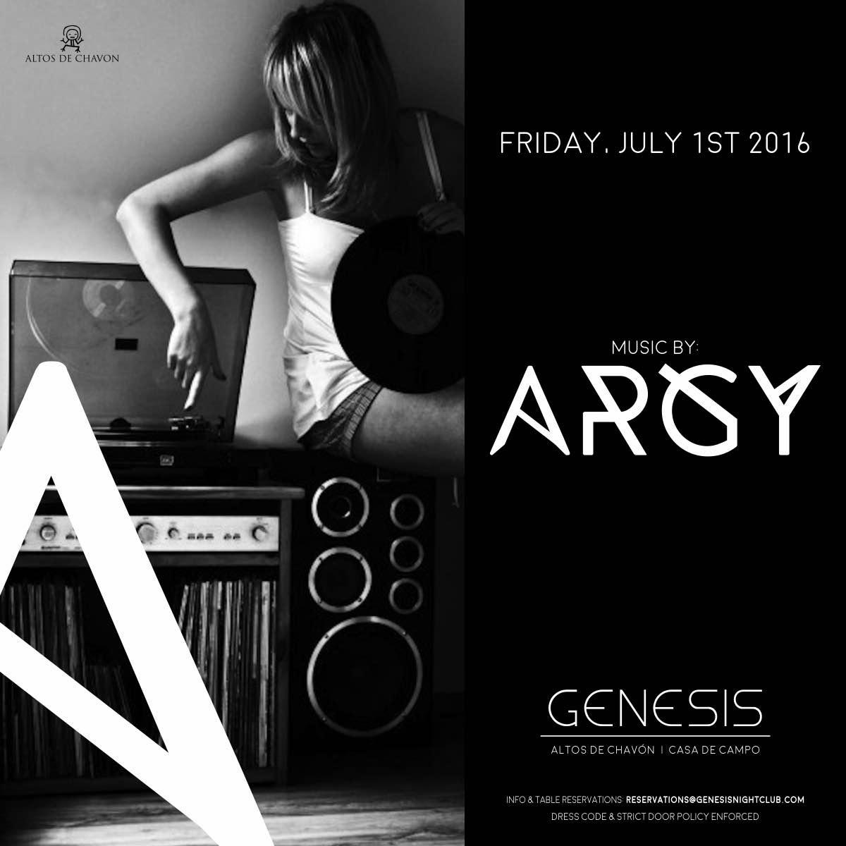 DJ Argy Genesis Night Club July 1 2016