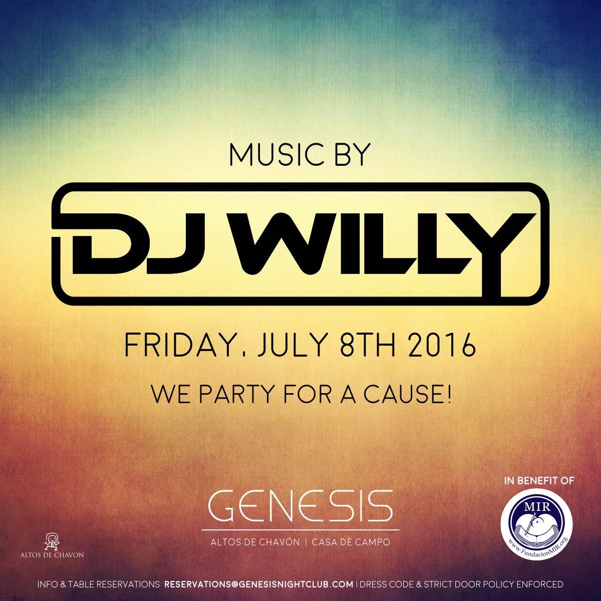 DJ Willy Friday 8 Genesis Nightclub