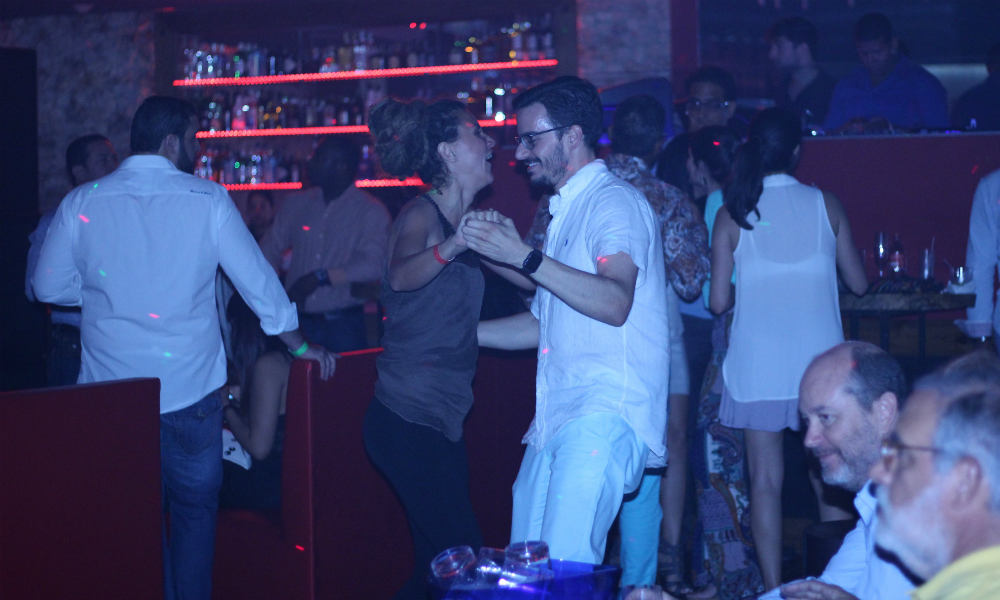 Dancing Couple at Genesis Nightclub