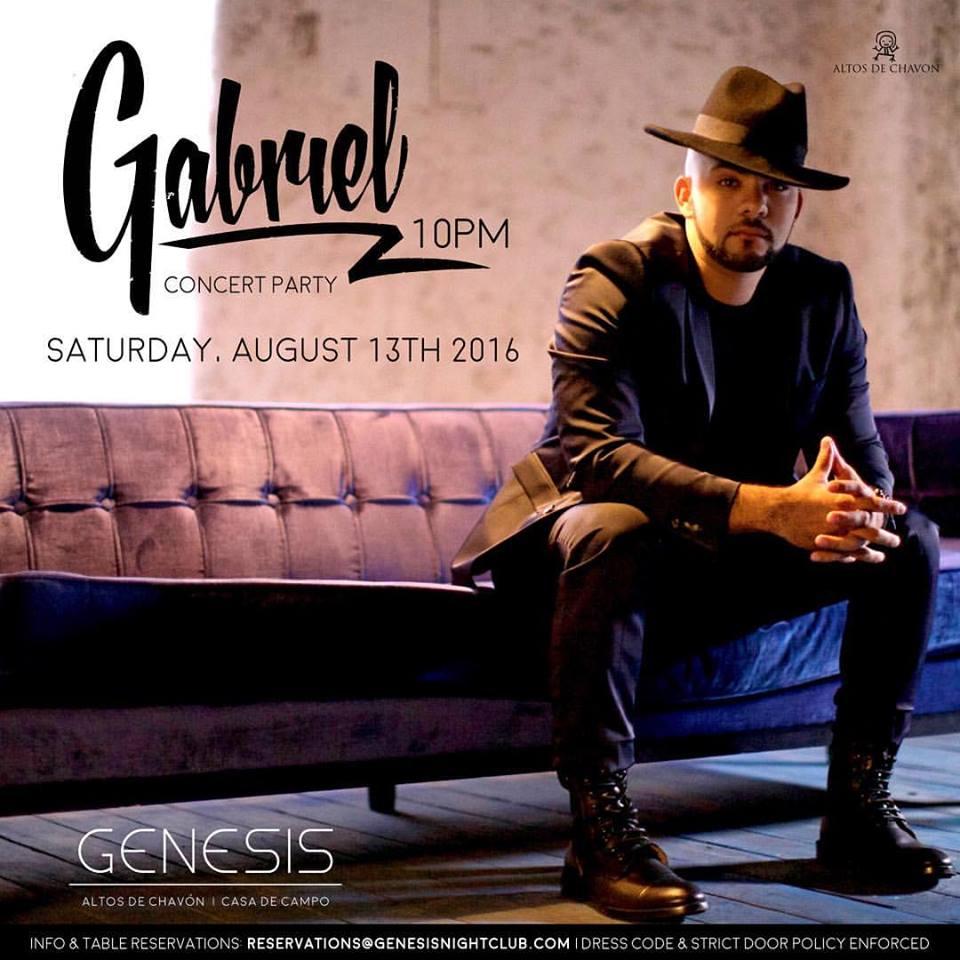Gabriel at Genesis Nightclub Flyer