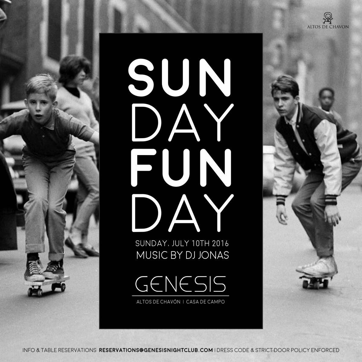 Sunday Fun Day Sunday 10 Genesis Nightclub