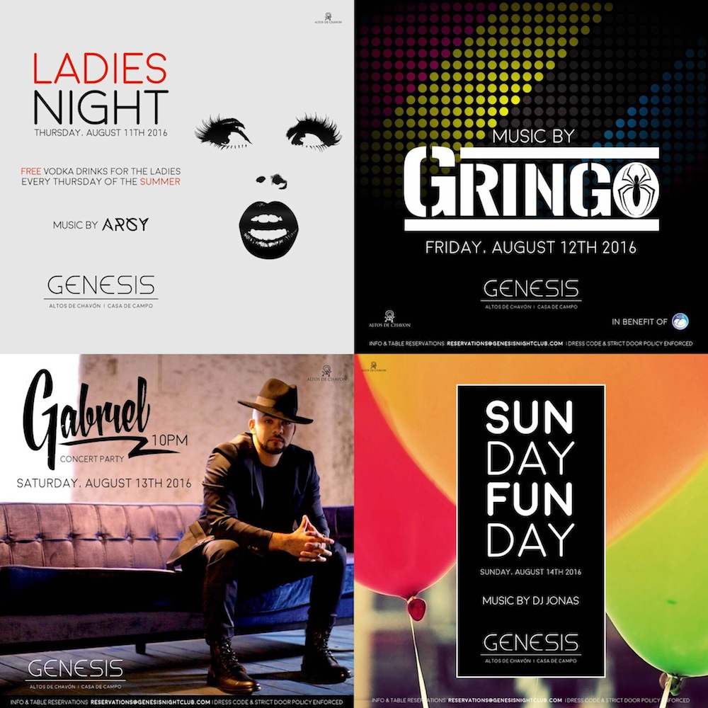 Flyers Genesis Nightclub