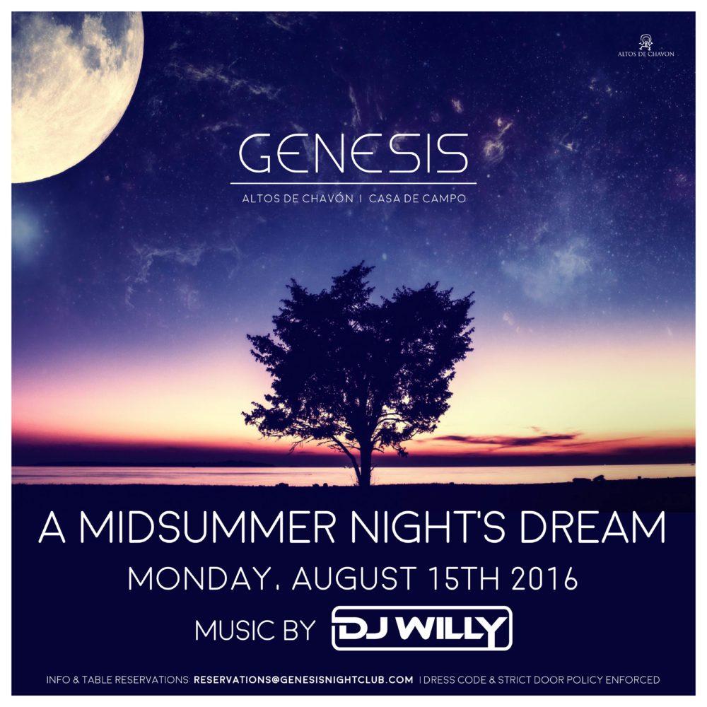 Genesis August 15th