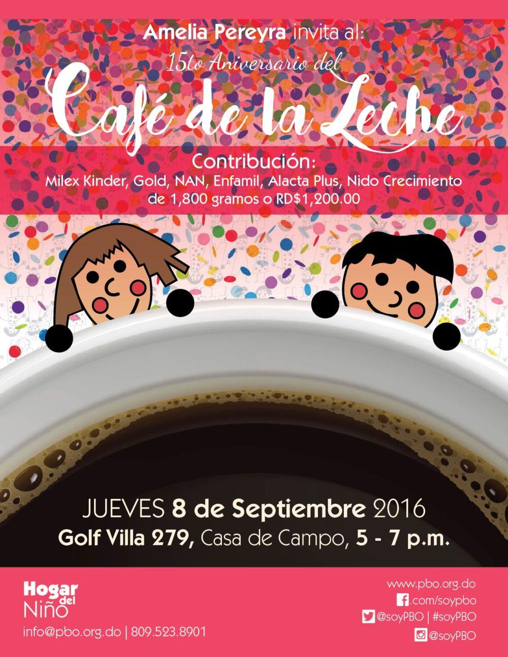 Café de la Leche 15th anniversary