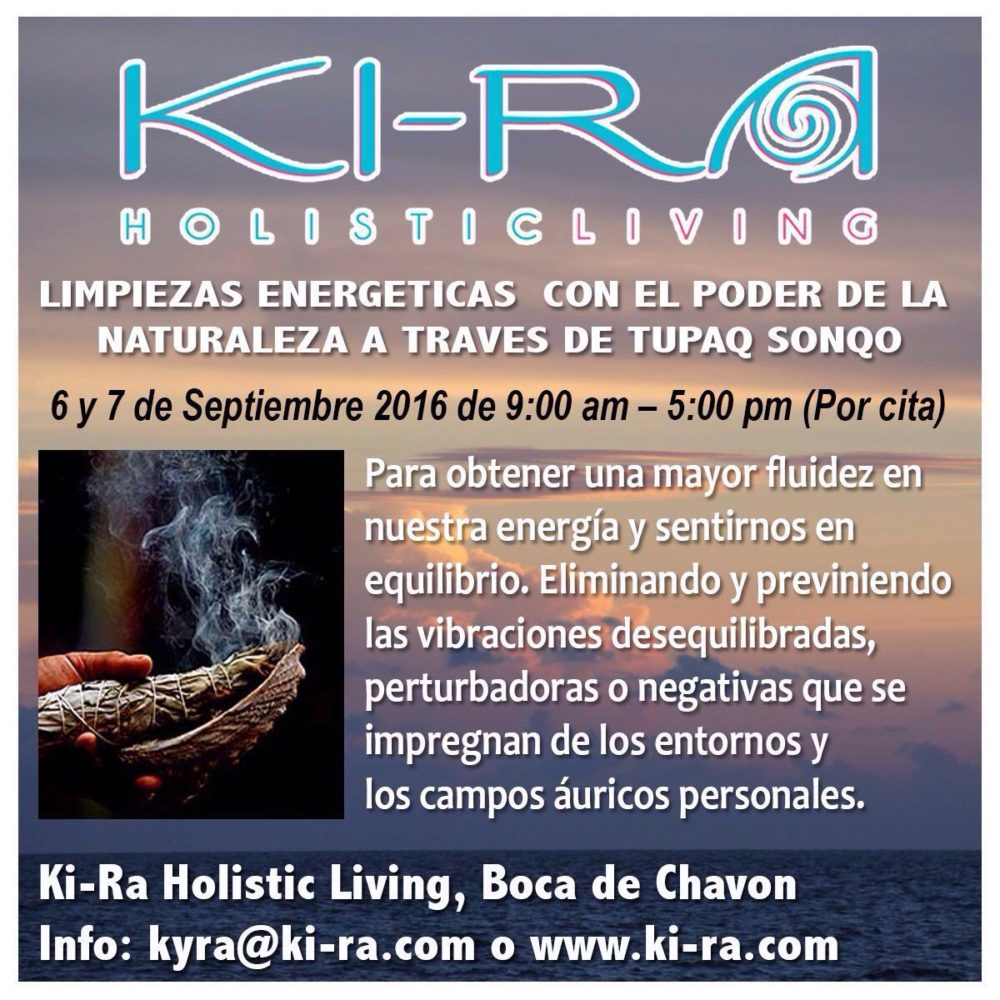 Ki-Ra Holistic Living Sept 6th