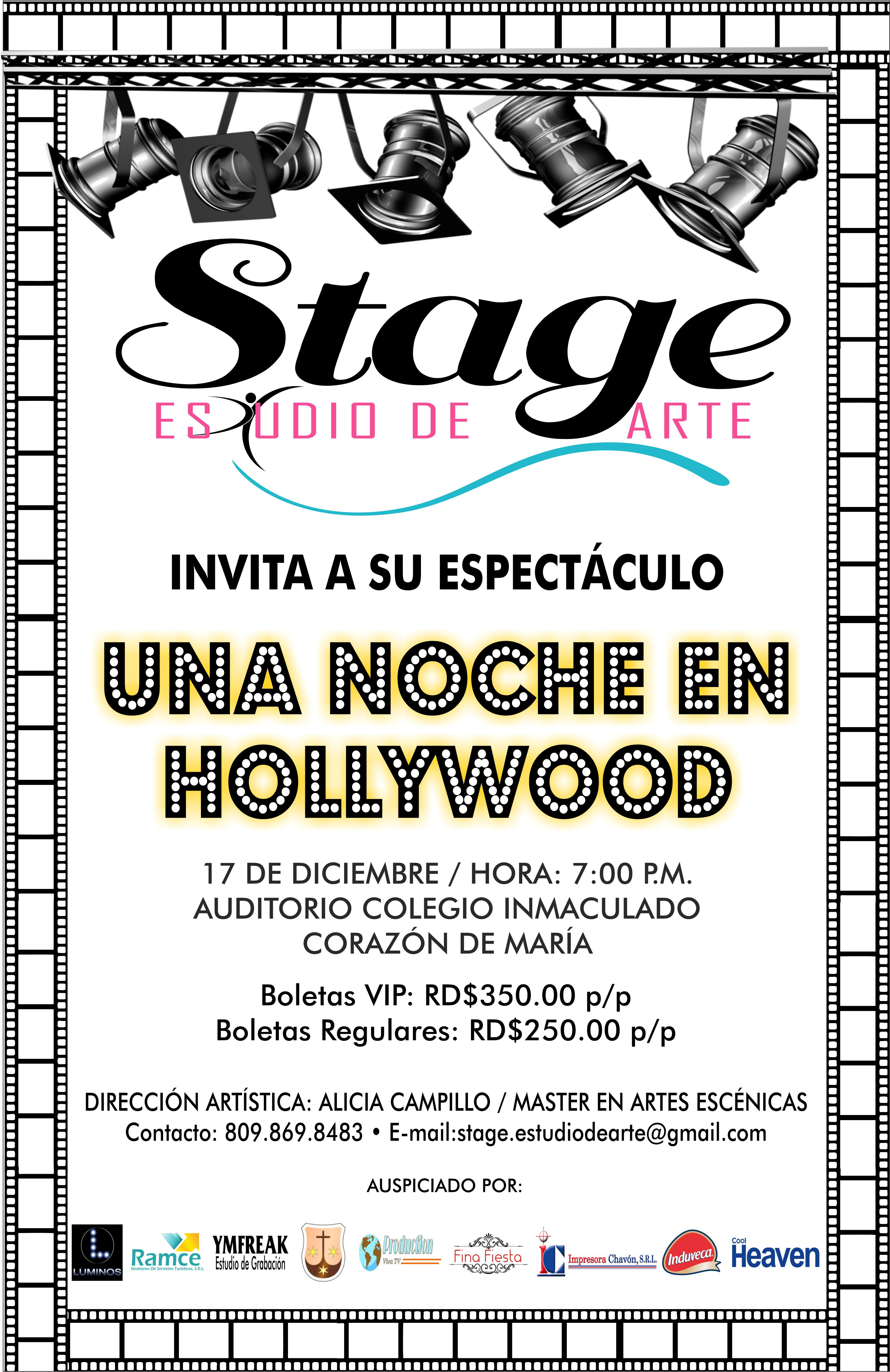 Stage Art Studio a night in hollywood