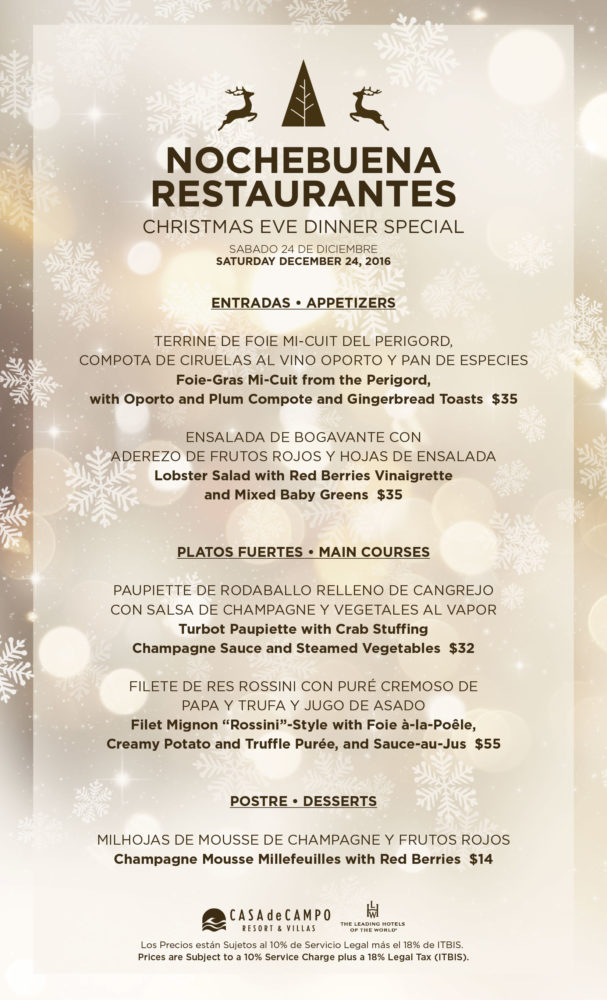 Casa de Campo Christmas Eve Specials