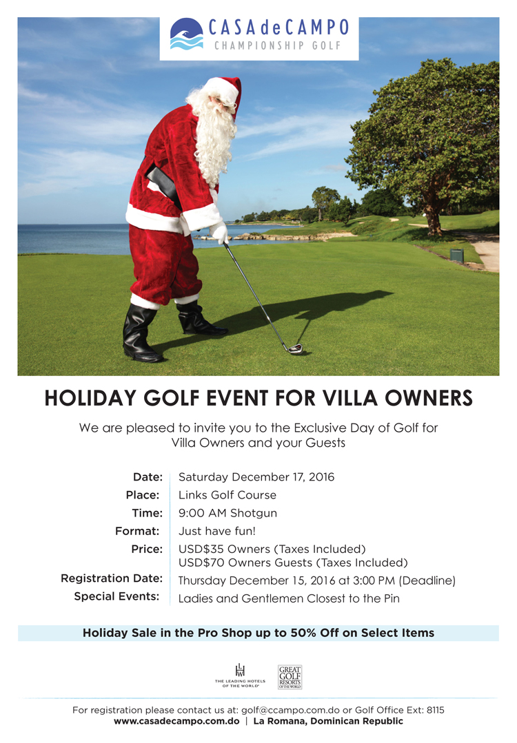 Flyer Evento Golf Nav para Dueños_ English