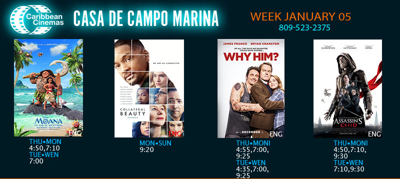 Casa de Campo Movie Times January 5-11