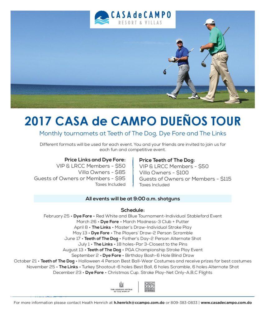 Casa de Campo Dueños Golf Tour