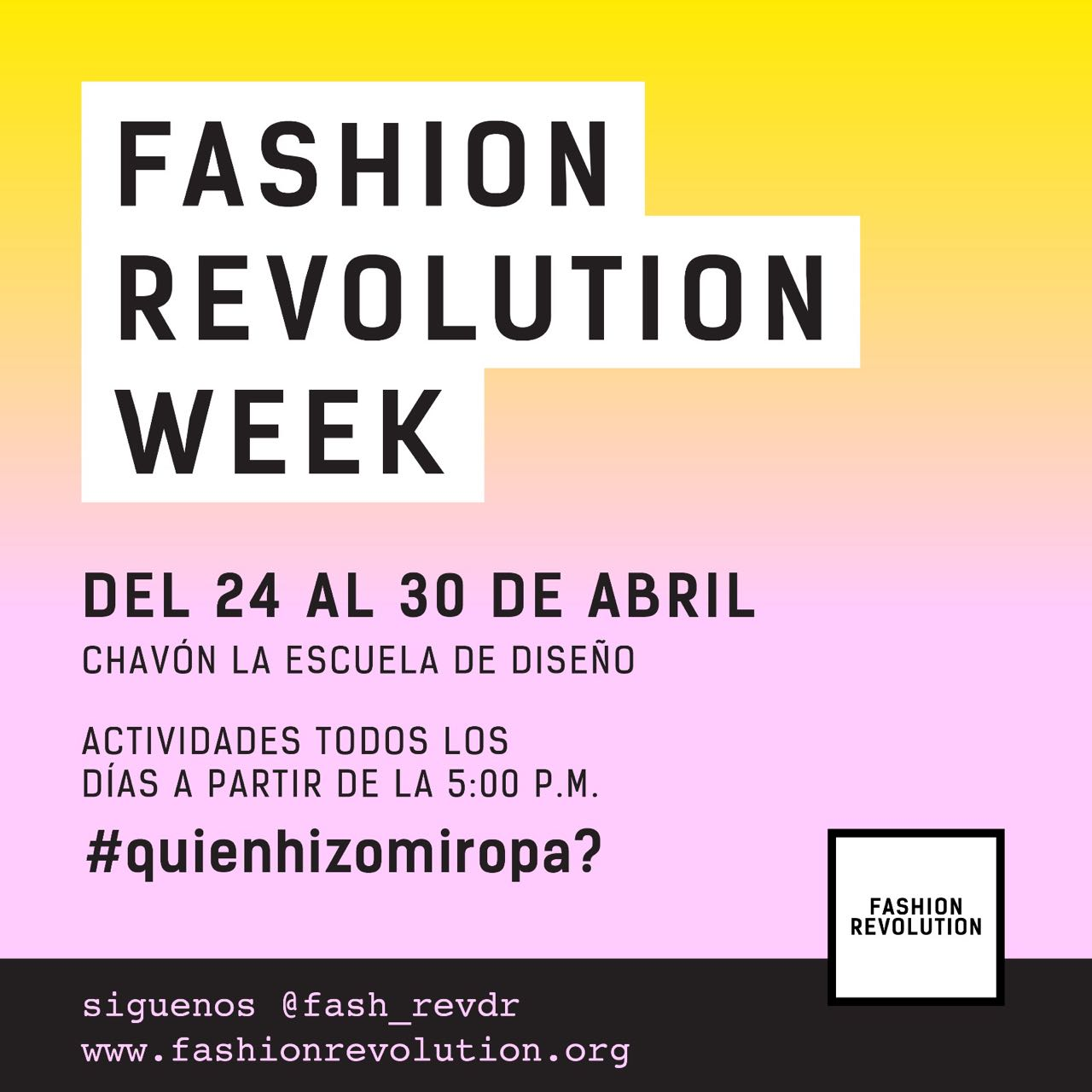 Fashion Revolution Week DR