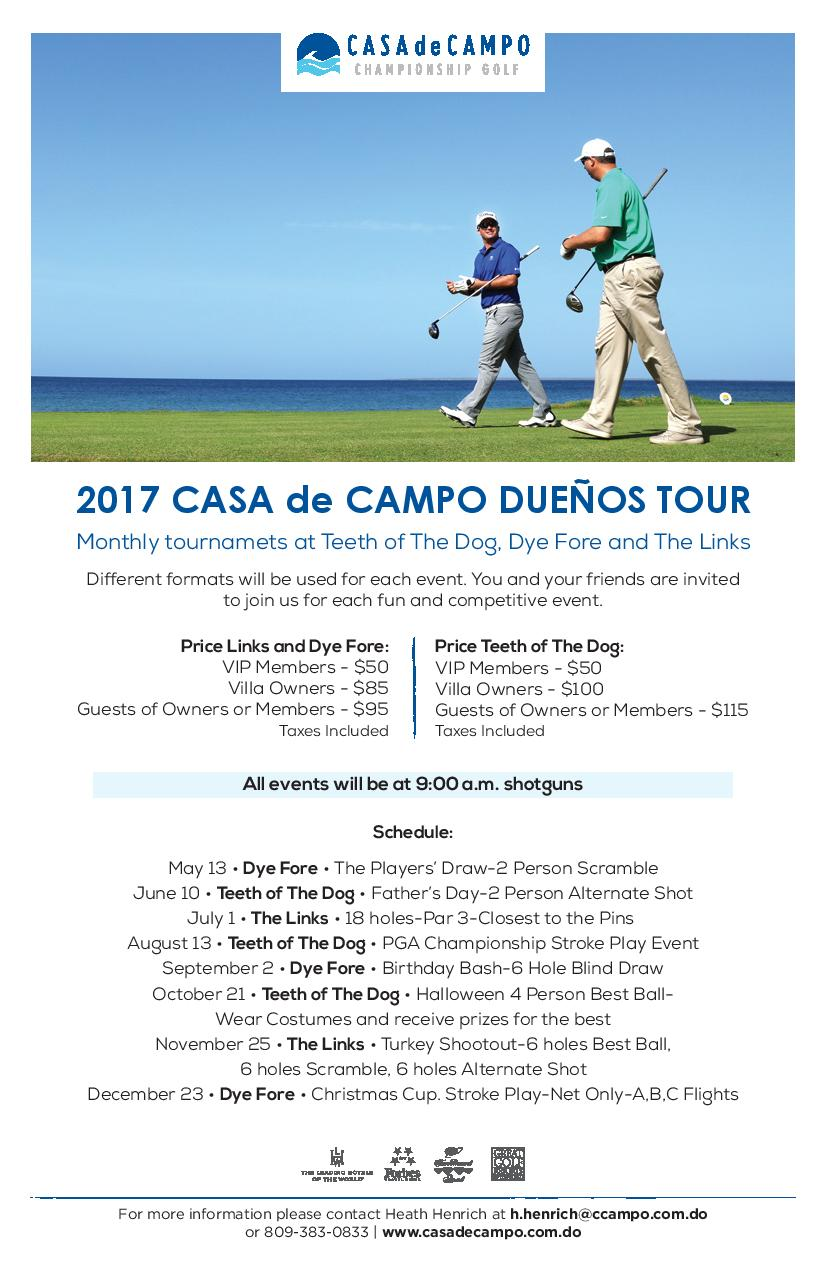 Dueños tour 2017