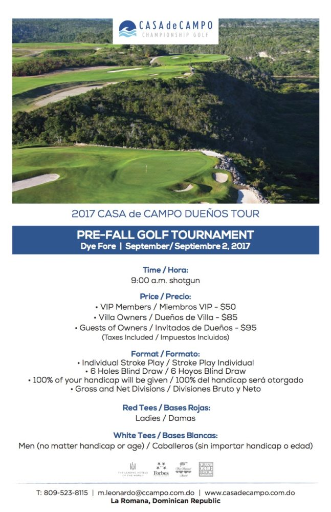 Pre Fall Golf Tournament