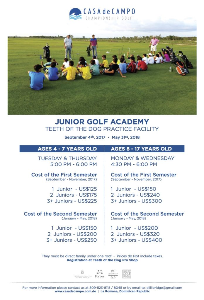 Junior Golf Academy 2017-2018