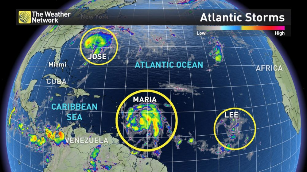 Atlantic storms