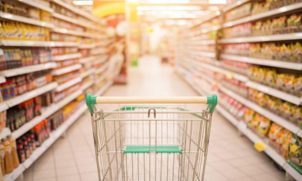 Supermarket - food labels